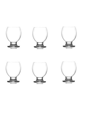 Lav Ayaklı 6 Lı Su Bardak Su - Meşrubat Bardağı Nec14 Renkli
